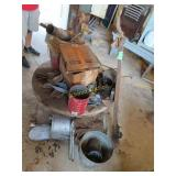 old school, oil can, jack, galvanized bucket and
