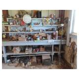 South half of workbench including fittings,