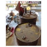 3 barrels 1 with pump