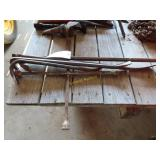four-way wrench and pry bars