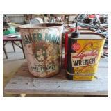 Antique Quaker Maid antifreeze can 1 gallon,
