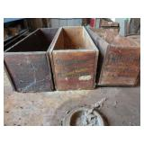 3 vintage cheese boxes