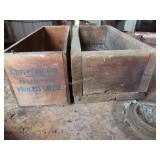 Old cheese box and additional antique wood box