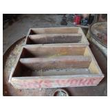 two vintage tongue and groove boxes