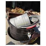 vintage galvanized sprinkler can, canning