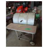 old Barrel type charcoal grill