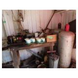 Tanks, miscellaneous metal, fence stretcher and