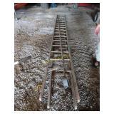 vintage 25 foot long extension ladder