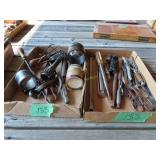 two boxes of miscellaneous tools