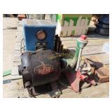 electric motor, yard sprinklers vintage and