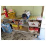 Shelf with items on it