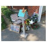 Decorative items and lawn chair