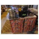 Small cabinet enamel top, canning preserver,