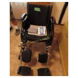 Wheelchair and blood pressure monitor