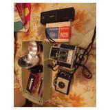 Vintage antique cameras Kodak, Bell & Howell