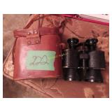 Antique binoculars with leather case special
