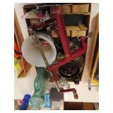 Apple peeler, decanter and miscellaneous