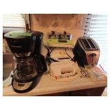 Lean grilling machine, vintage canisters,