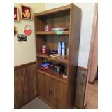 Shelf and items on it