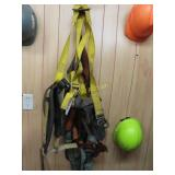 Hard hats and harnesses