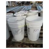 "6 buckets of 5"" by 5"" plate washers"