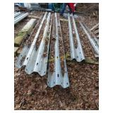 6 pieces of guardrail 13 ft 6 inches