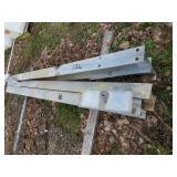 Used guardrail post, cut off, used guard rail,
