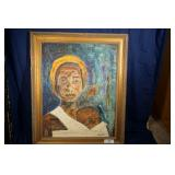 African American woman and baby    34x24    Demars