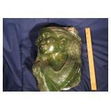 """E.C. Ndoro       Verdite carving 12"""" x 8"""""""