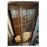 Antique curio cabinet (missing the curved glass ss