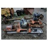 Pallet of tamper engines and parts