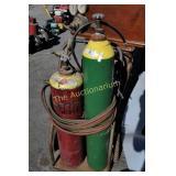 Portable Gas Welding Kit Tanks Hoses Tips & More