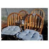Set of 4 Country Style Kitchen Counter Bar Stools