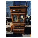 Vintage Leaded Glass Inlay Dresser