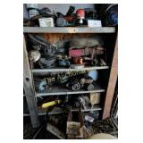 Shelves Bins Screw Bins & Contents in shed