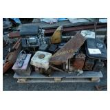 Pallet o engines batteries and parts
