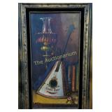 "Art: C. Joshma ""Show Boat Lute"" framed"