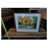 Art: Joanne Yanda May Framed Original Autumn Scene