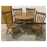 "41.5"" diameter table with chairs"