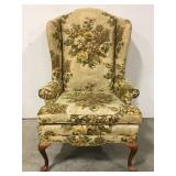 Vintage winged back chair