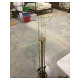 Fishing pole holder with poles