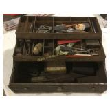 Kennedy metal toolbox with contents