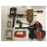 Variety of clamps including Craftsman