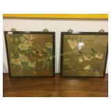 Framed pair of eastern artwork
