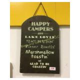 """Happy campers"" wall decoration"
