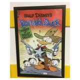 Framed Walt Disney Dolanld Duck print