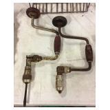 2 vintage hand drills