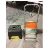Storage stool & utility cart