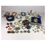 Pins, Earrings and Bracelets
