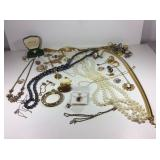 Large Lot of Costume Jewelry Necklaces & Rings